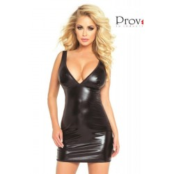 PROVOCATIVE WET LOOK SEXY MINI DRESS