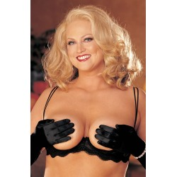 BRA WITH UPLIFTING UNDERWIRED SUPPORT BLACK