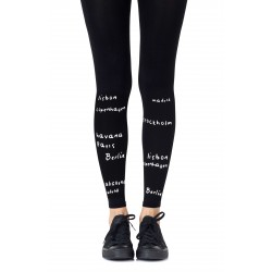ZOHARA BUCKET LIST BLACK LEGGINGS