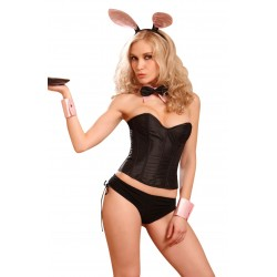 FIVE PIECE CUTE BLACK BUNNY COSTUME