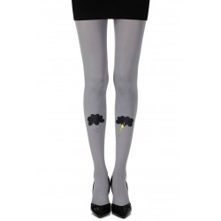 "ZOHARA ""THE PERFECT STORM"" GREY PRINT TIGHTS"
