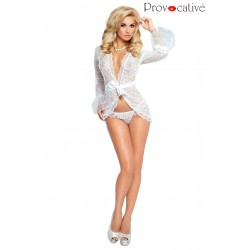 PROVOCATIVE CULTE CHIC PEIGNOIR WHITE