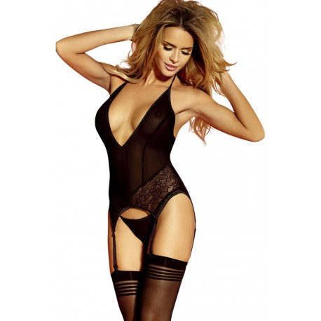 YESX YX159 BUSTIER/THONG/STOCKING SET