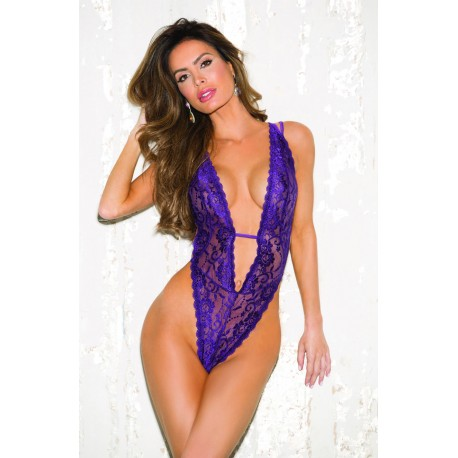 SHIRLEY OF HOLLYWOOD 96631 VIOLET ONE SIZE