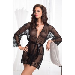 IRALL EROTIC DIAMOND DRESSING GOWN BLACK