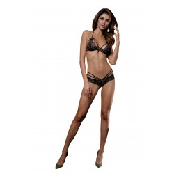 YESX YX522 2 PIECE BRA SET BLACK