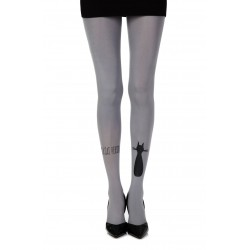 "ZOHARA ""SMELLY CAT"" GREY PRINT TIGHTS"