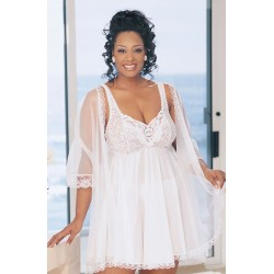 BEAUTIFUL 3PC BABYDOLL PEIGNOIR SET