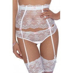 ROZA AMBRE SUSPENDER BELT WHITE
