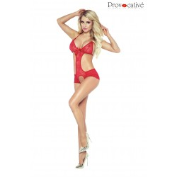PROVOCATIVE  LACE INDULGENCE BODY RED