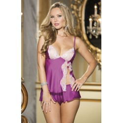 LUXURIOUS CHARMEUSE AND LACE CAMI TAP SET