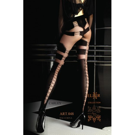 BALLERINA 048 TIGHTS NERO (BLACK) / VISONE