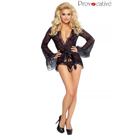 PROVOCATIVE CULTE CHIC PEIGNOIR BLACK