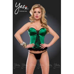 VERY SEXY CORSET  GREEN AND BLACK