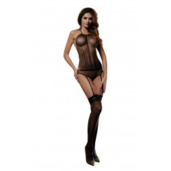 YESX YX928 SET WITH STOCKINGS BLACK