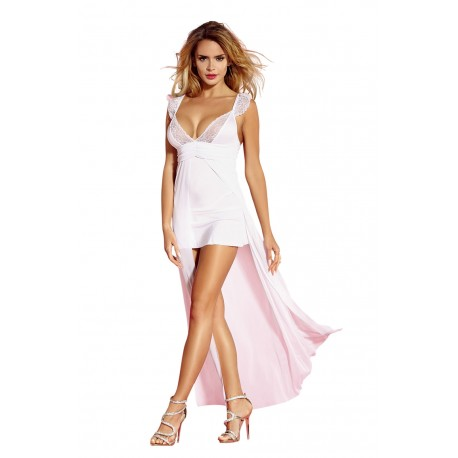 YESX YX161 DRESS/THONG WHITE