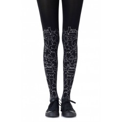 CAT LADY TIGHTS BLACK